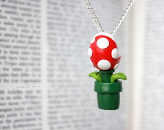 Piranha Plant Necklace Super Mario Nintendo
