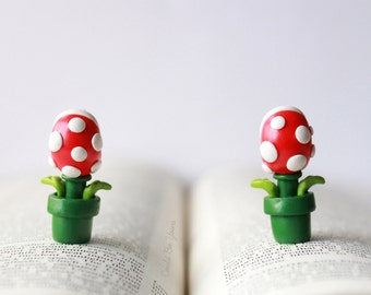 Piranha Plant Earrings Super Mario Nintendo