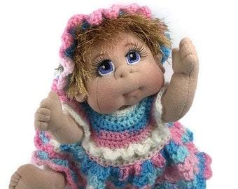 "Soft Cloth Baby Doll  14"" READY TO SHIP"