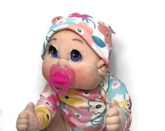 """Soft Sculpture Doll, USA made, Soft Cloth Baby Doll, 23""""  READY to SHIP"""