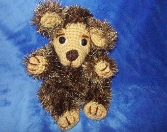 """Bear, Teddy Bear, Crocheted OOAK original design artist bear, MADE to ORDER12"""""""
