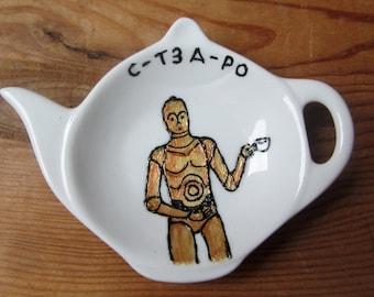 C3P0 Tea Bag Tidy - C-T3A-P0 - Spoon Rest