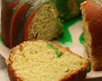 Pistachio Bread with Icing