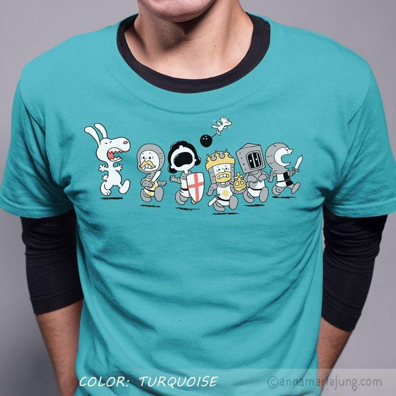 6b776119c Run Away Killer Rabbit Shirt The Holy Grail Shirt Peanuts | Etsy