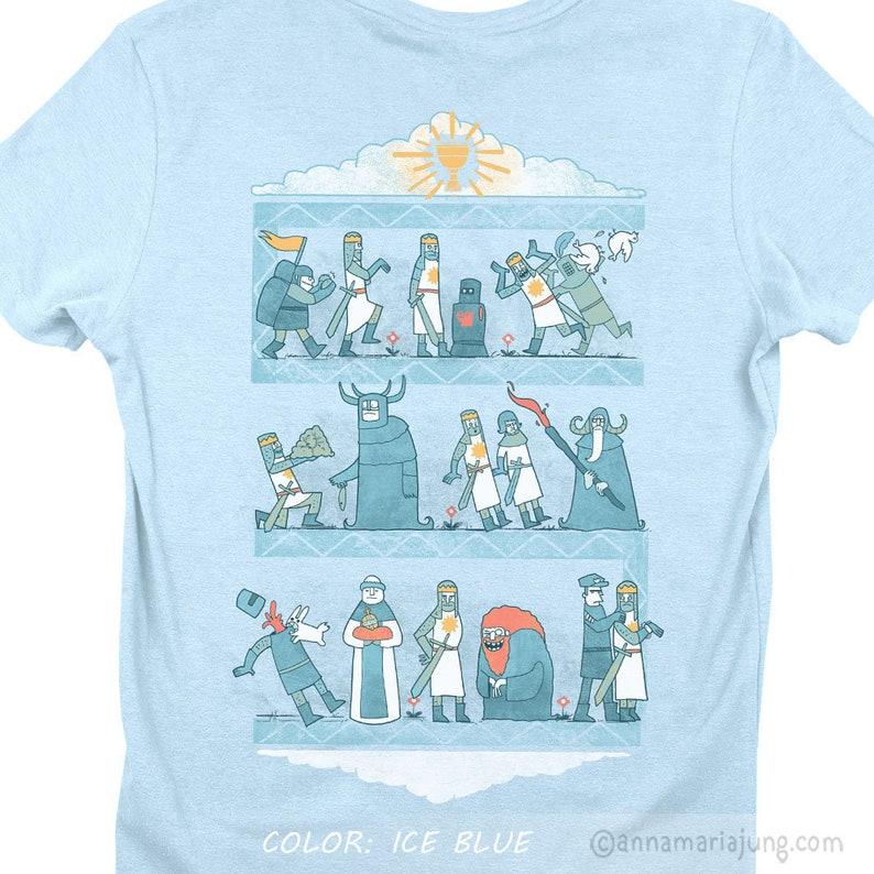 c6d629a78 Tapestry of Aaarrrrgh Killer Rabbit Shirt The Holy Grail | Etsy