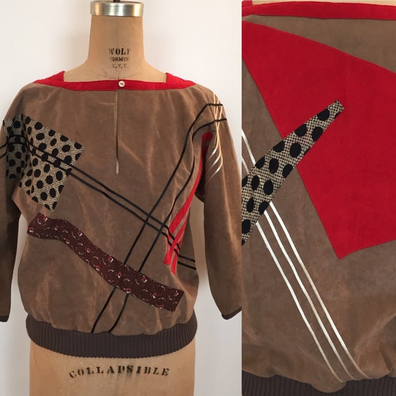 Koos Van Den Akker faux suede banded tunic