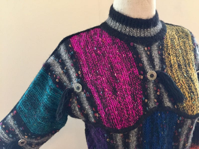 Gil Aimbez for Foreign Market southwest motif mock turtleneck sweater
