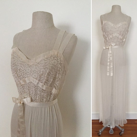 Lovely detailed sheer negligée