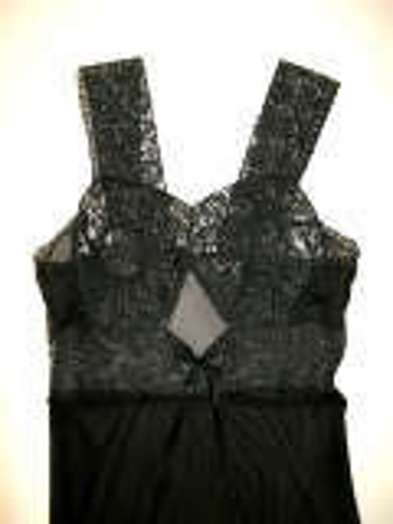 Black Silk Lingerie by Blanche Gown-Size XS