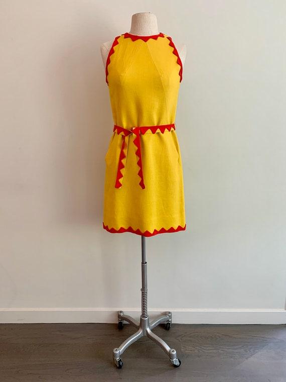 Donald Brooks-Boutique Mod 1960s Yellow/Orange Lin