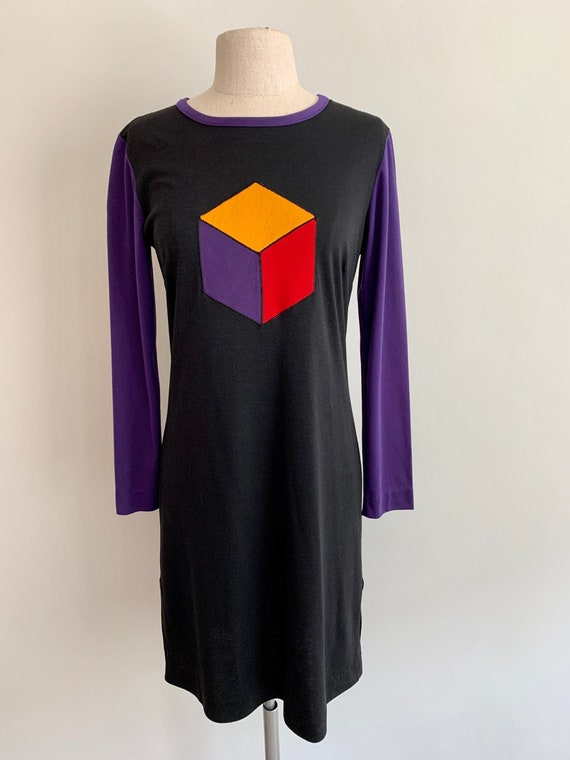 Crazy Horse 1980s graphic knit dress