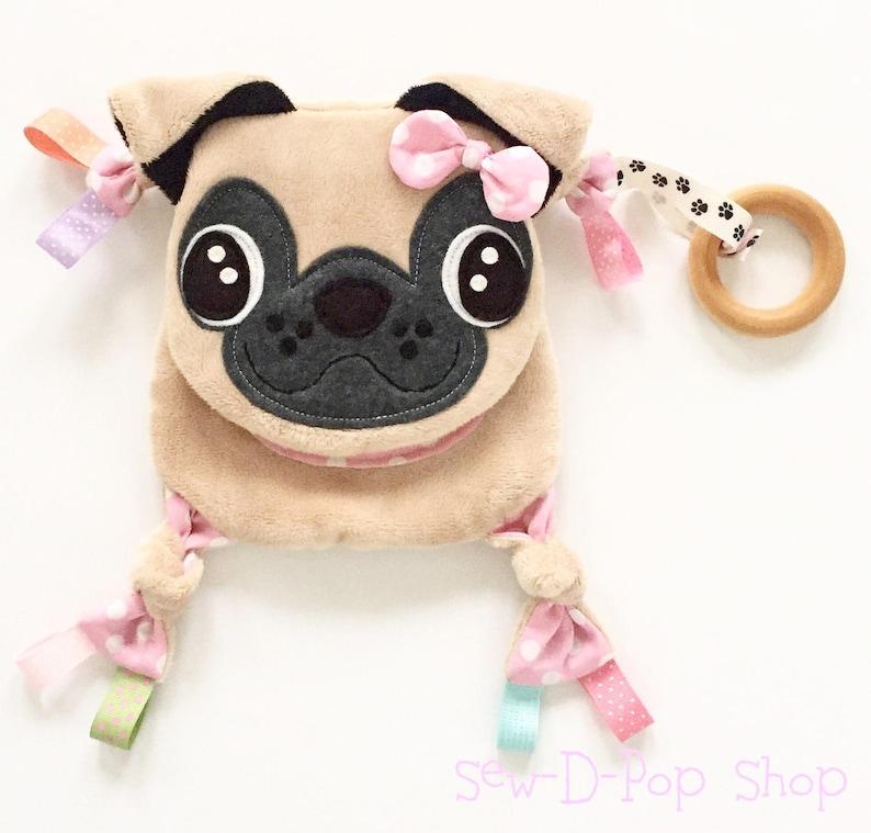 Jouet sensoriel pour bébé modèle chien - Créatrice ETSY : SewDPopShop