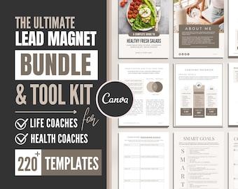 Coaching Lead Magnet Template Bundle   Canva Template for Coaches   Health, Life Coach Kit   eBook & Workbook   Coaching Worksheet   Freebie