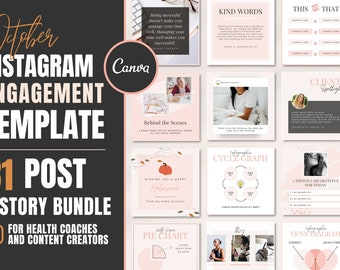 OCTOBER Instagram Template for Coaches ~ DFY Canva Templates for Post AND Story,  ~ Social Media Posts for Health & Wellness Business
