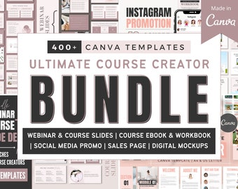 Course Creator Bundle   Canva Template for Coaches   Course Creation Toolkit   Online eCourse and Webinar Resource   Course Workbook & eBook