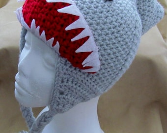 8fb93419255 Crochet shark hat