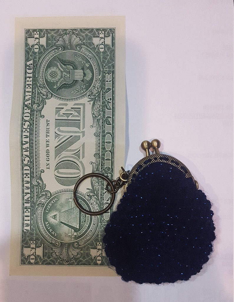 f4c289fc8 Coin purse keychains crochet keychain coin wallet   Etsy