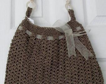 Lace crochet purse