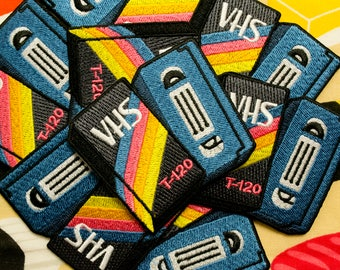 80's Retro Blank VHS Iron-on Patch