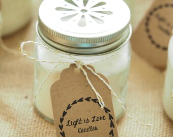 Made to order listing! 100% soy wax aromatic candle/ 8 oz or 12 oz mason/canning jar/phthalate free fragrances/ holiday gift