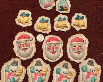 Vintage Paper Mache Christmas Ornaments XM6