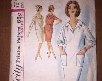 Simplicity Sewing Pattern 5245 Misses One Piece Dress Size 12