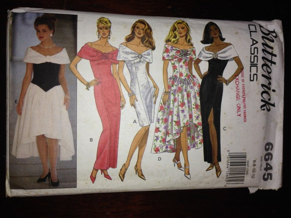 Butterick 6645 Sewing Pattern 90s Classics Misses Dresses Size 6-8-10-12