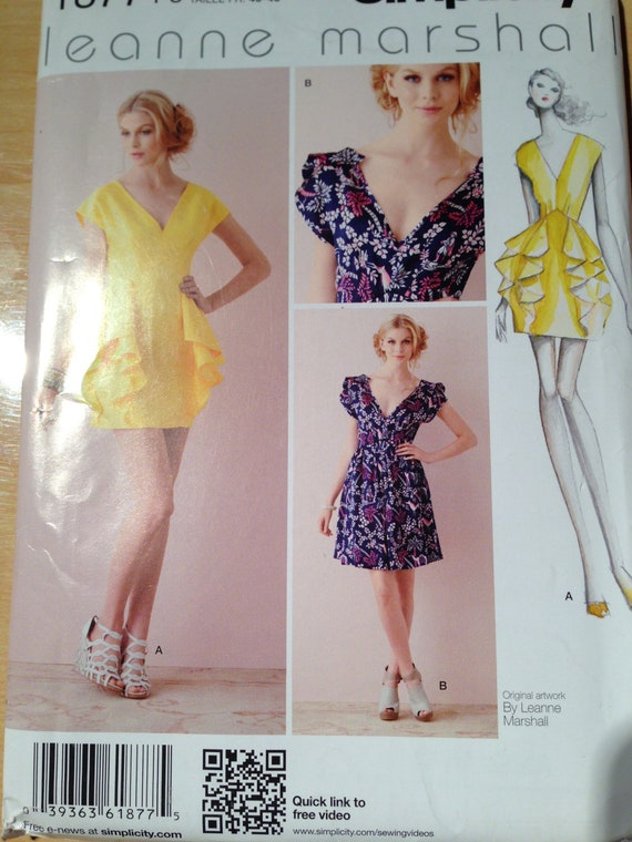 Simplicity Sewing Pattern 1877 Uncut Misses Dress Size 12-20