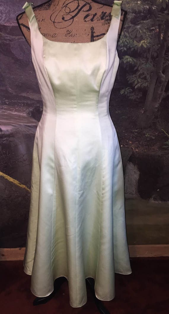 Vintage NWT Pastel Green Alfred Angelo Bridesmaids