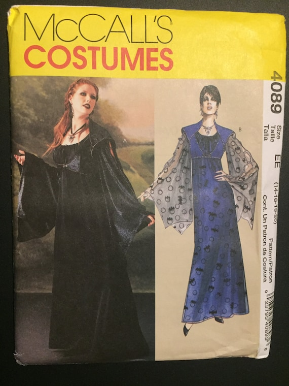 McCall's Sewing Pattern 4089 Misses' Gothic Dress Costume Size 14-20