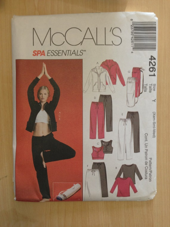 McCalls Sewing Pattern 4261 Misses Athletic Wear Jacket, Tops, Pants, Skirt and Bag Size 4-14