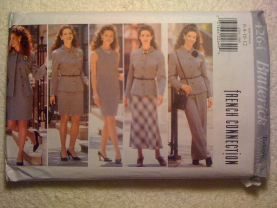 Butterick Sewing Pattern 4264 90s Misses and Misses Petite Jacket, Dress, Skirt and Pants Size 6-8-10-12