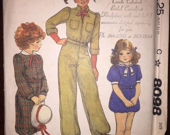 McCall's Sewing Pattern 8098 Childrens and Girls Romper or Jumpsuit Annie Costume Size 14