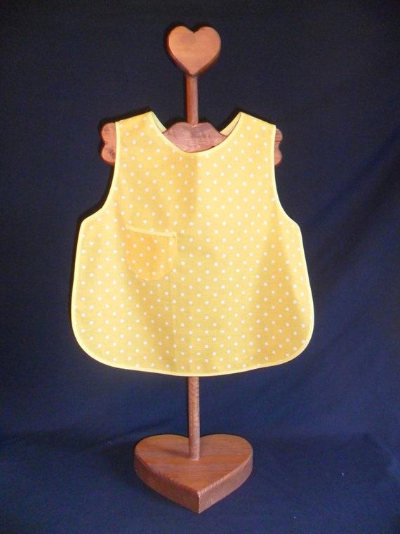 131db934c1ba Childs yellow polka dot apron with yellow trim slip over no