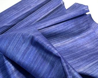 Midnight Blue Tussar Silk Fabric, 100% Organic Silk, Handwoven Tussar Silk Fabric, Textured Silk Fabric, Silk Fabric For Cosplay Costumes