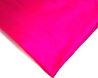Hot Pink Pure Silk Fabric - Soft Pure Silk - Plain Silk Fabric - Dress and Curtain Fabric By Yard