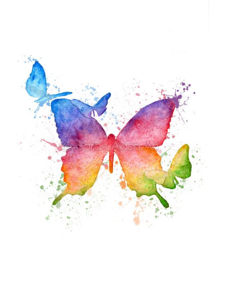 b226a998e3a Rainbow Print Butterfly Rainbow Painting Rainbow Nursery