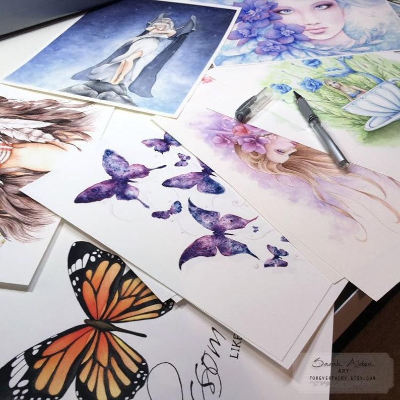 7485cd13921 SALE GRAB BAG 5 8x10 Fairy Art Fantasy Girls Butterfly