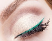 GREEN Emerald PEN EYELINER Easy to use Liquid Non-Toxic Organic Vegan Natural Waterproof for sensitive eyes