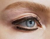 BROWN PEN EYELINER Liquid Non-Toxic Organic Vegan Natural Bare Mineral Makeup Waterproof for sensitive eyes