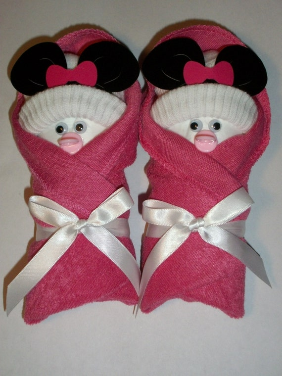 ITS A GIRL PINK LITTLE SWADDLERS DIAPER BABY SHOWER  FAVORS GIFT TOPPER CUTE