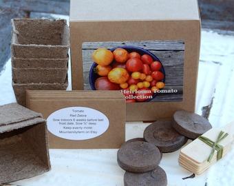 Heirloom Tomato Seed, Tomato Garden Kit, DIY Vegetable Seeds, Great Mother's Day Gift, Gardening Gift Set, Hostess Gift or Gift for Gardener