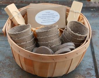 Vegetable Garden Gift, DIY Vegetable Gardening, Heirloom Vegetable Seed in Gift Basket, Mother's Day Gift , Gift for Gardener, NON GMO Seeds
