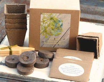 Indoor Herb Kit, Herb Seeds And Garden Supplies In Gift Box, 6 Seed  Varieties, Great Gift For Gardener Or Hostess Gift, Garden Gift Set