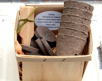 Herb Garden Kit, Indoor Herb Garden, Garden Gift Set for Mom, Easy to Grow Herb Garden Set