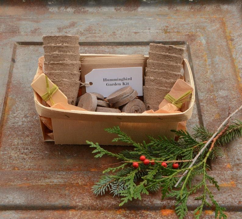Hummingbird Garden Kit Garden Gift Basket Spring Gift for No Gift Box