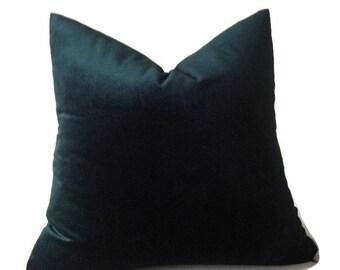 Robert Allen Hunter Green Velvet Pillow Cover, Dark Green Velvet Pillow,  Throw Pillows, Decorative Pillow Cover