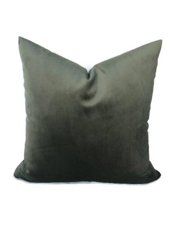 Robert Allen Sage Green Velvet Pillow Cover Light Green Etsy