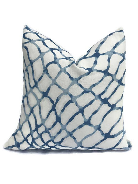 Jeffrey Alan Marks Waterpolo Pillow Cover In River, Kravet Pillow, Blue Geometric Throw Pillow, Decorative Pillows by Etsy