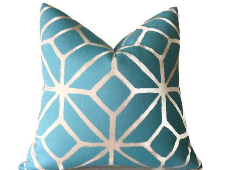 Trina Turk Indoor Outdoor Pillow Blue Pillows Throw Pillows Etsy